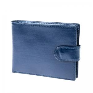 portofel piele albastra